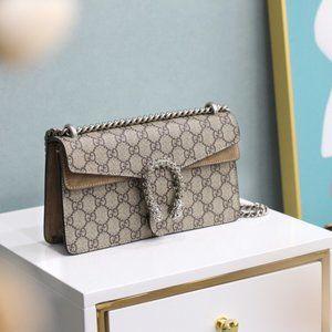 New Gucci Dionysus GG Supreme Bag small canvas lee